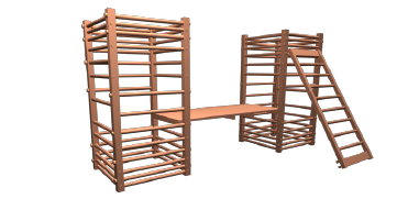 肋木と滑り板